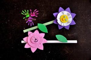 Fleur en mousse