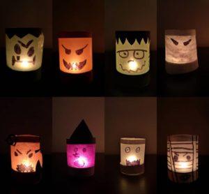 Petites lanternes monstres d'Halloween