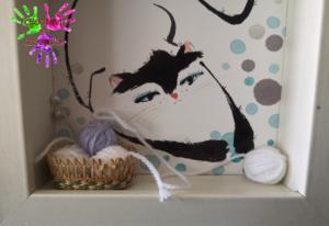 Cadres animaux - détail du chat