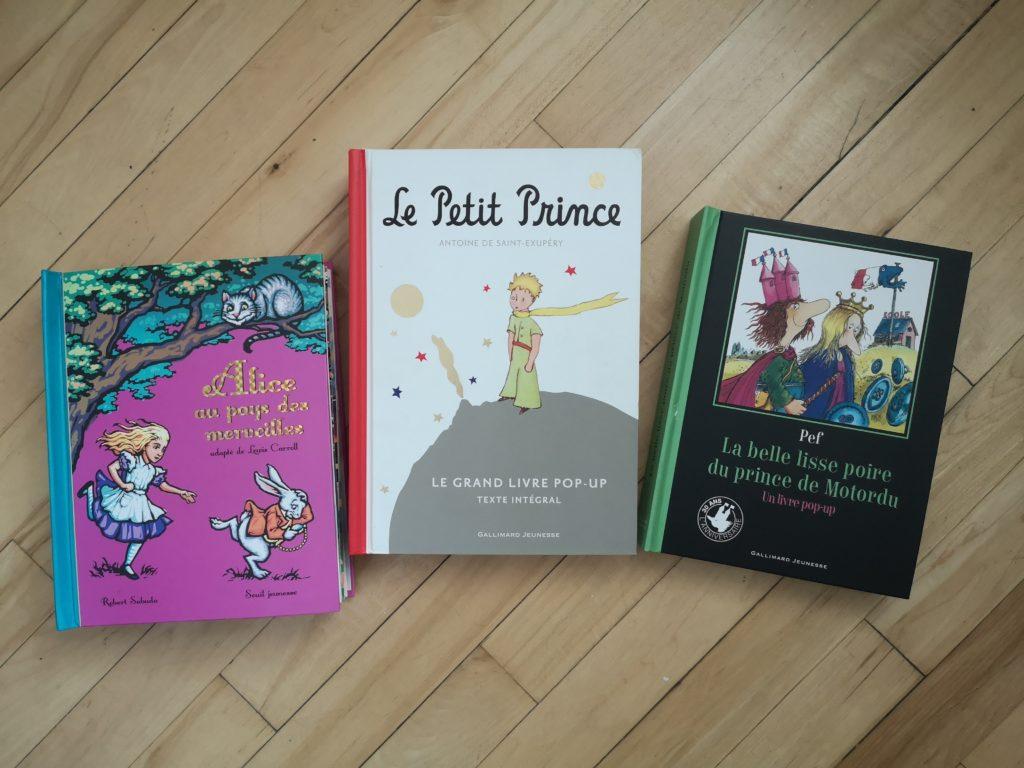 Grands livres classiques pop-up