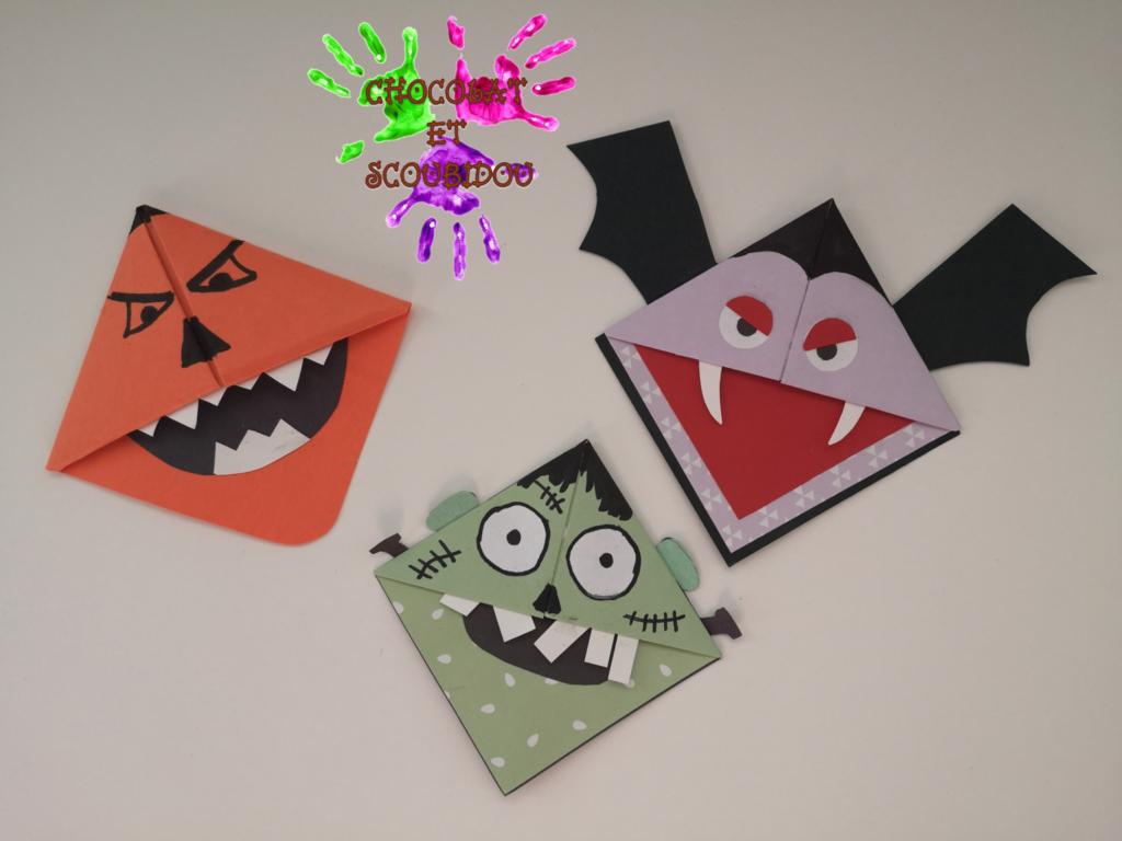 Marque-page en origami - Halloween