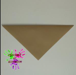 Marque-page en origami - étape 2