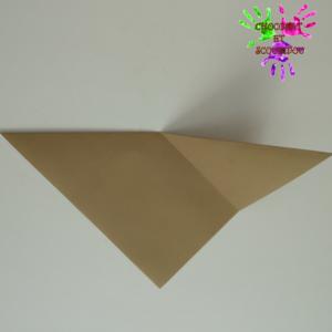 Marque-page en origami - étape 4