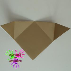 Marque-page en origami - étape 8