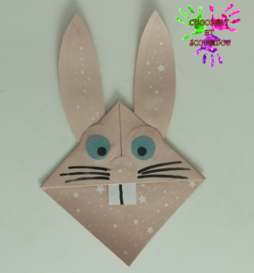 Marque-page en origami - lapin