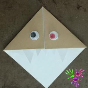 Marque-page en origami - monstre