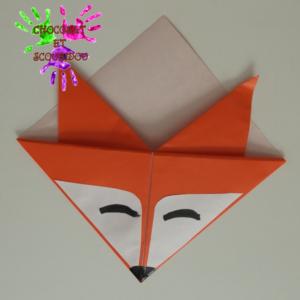 Marque-page en origami - renard