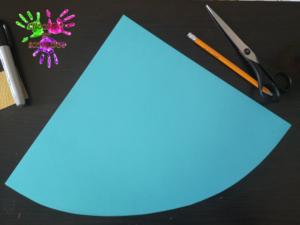 Poule en papier - étape 1