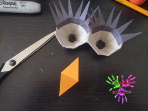 Poule en papier - étape 9