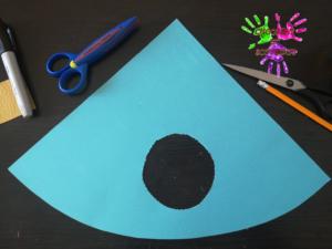 Poule en papier - étape 2