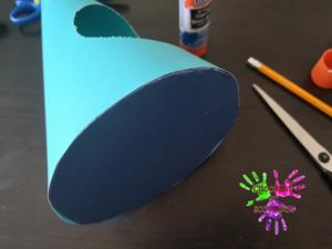 Poule en papier - étape 5