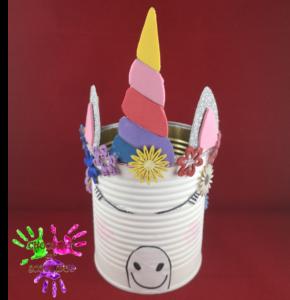 Pot à crayons licorne