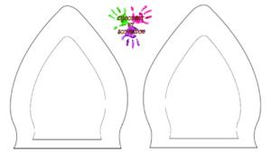 Pot à crayons licorne - modèle pour oreilles